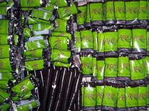 Poupa do fruto da palmeira juçara que se assemelha ao açaí (Foto: Divulgação / Centro Ecológico)